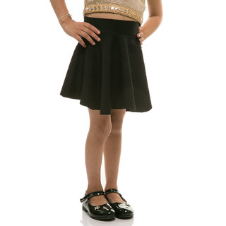 Rimsha Black viscose skirt for kids