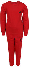 HAIG-DOT Red Round Neck Tracksuit for Girls