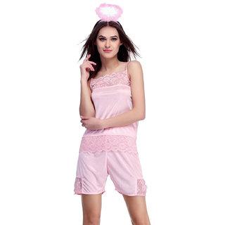 Belle Nuits Women's Solid Short Top  Shorts Set