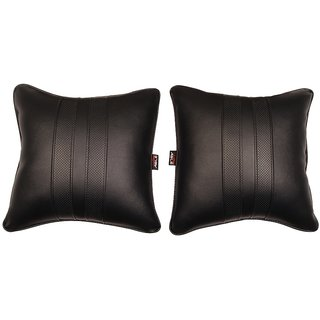 Able Sporty Cushion Seat Cushion Cushion Pillow Black For CHEVROLET SAIL U-VA Set of 2 Pcs