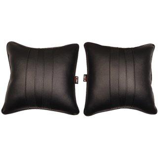 Able Sporty Cushion Seat Cushion Cushion Pillow Black For FIAT AVVENTURA Set of 2 Pcs