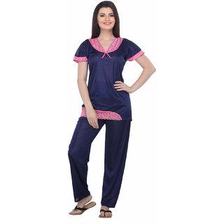 Belle Nuits Women's Floral Print Full Length Top  Pyjama Set