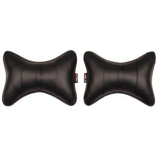 Able Sporty Neckrest Neck Cushion Neck Pillow Black For VOLKSWAGEN CROSS POLO Set of 2 Pcs