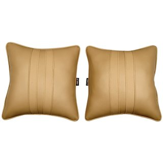 Able Sporty Cushion Seat Cushion Cushion Pillow Beige For MARUTI CIAZ Set of 2 Pcs