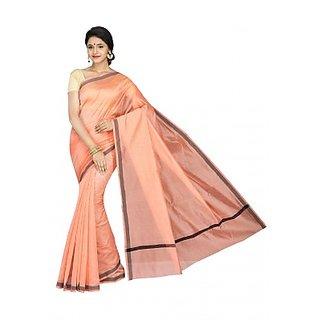 KORNI Multicolor Banarasi Silk Printed Saree Without Blouse