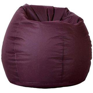 Manjari Bean Bag Cover - Medium - Wine RED