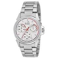 Ziera Round Dial Silver Analog Watch For Men -Zr-2245