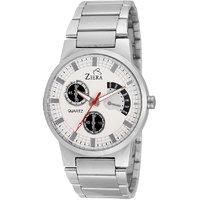 Ziera Round Dial Silver Analog Watch For Men -Zr-2246