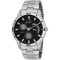 Ziera Round Dial Silver Analog Watch For Men -Zr-7002