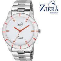 Ziera Round Dial Silver Analog Watch For Men -Zr7005