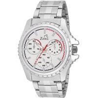 Ziera Round Dial Silver Analog Watch For Men -Zr-7845