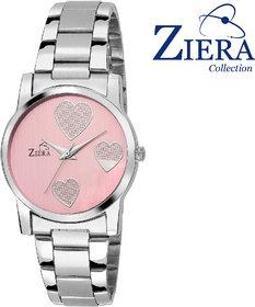 Ziera Round Dial Silver Analog Watch For Women-Zr8014