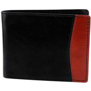 Zint Pure Leather Mens Wallet Bifold Credit Card Holder Black Coin Photo Id Purse