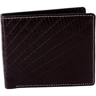 Zint Mens Wallet Genuine Leather Bifold Credit Card Holder Brown Coin Photo Id Purse