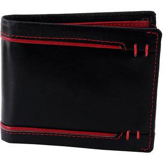 Zint Mens Wallet Genuine Leather Black Bifold Credit Card Holder