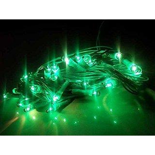 5 pcs Green Rice Ladi/Light/String Twinkling Serial Bulb Light For Diwali/Christmas/Garba/Festivals Decoration Approx 25-30 Feet