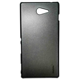 Pudini Metal Back Cover For Sony Xperia M2-Black