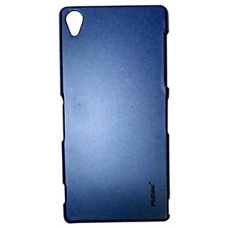 Pudini Metal Back Cover For Sony Xperia Z3-Blue