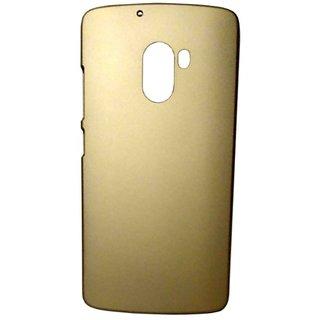 Pudini Rubber Back Cover For Lenovo Vibe K4 Note-Gold