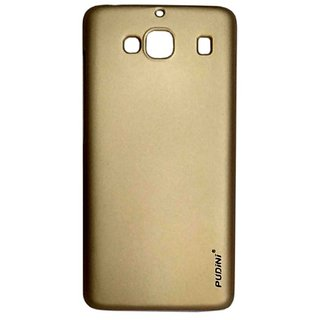 Pudini Rubber Back Cover For Samsung Galaxy J3-Gold