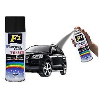 F1 AEROSOL SPRAY PAINT BLACK