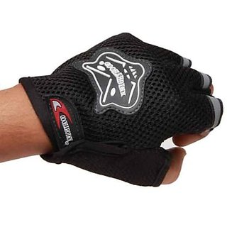 HALF KNIGHTHOOD FINGER RIDING GLOVES FOR ALL BIKES and scooty gloves...black