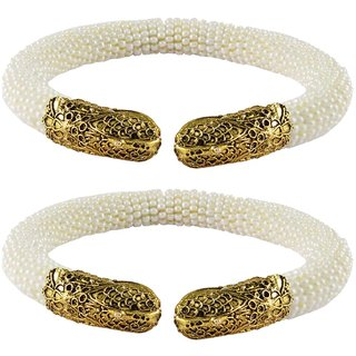White Plain Acrylic-Brass Bangle