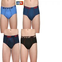 Alfa Men's Frenchee Multicolor Briefs OE - Pack of 4