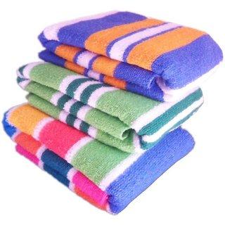 Xy Decor Cotton Terry Bath Towel Set  (3 pcs bath towel, multicolour)