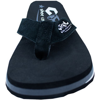 59660f8ad Buy Cool Shoe Co. Coal Black Rubber Beach Slippers Online - Get 35% Off