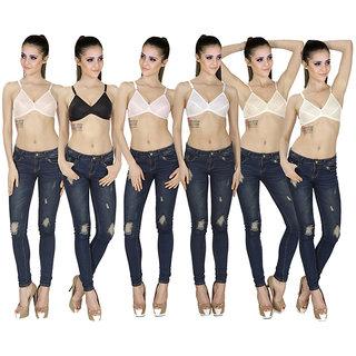 f4e12cfd1d Buy SK Dreams Multi Color Set of 6 Women s Bra Combo Online - Get 63 ...