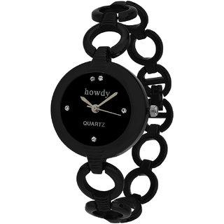 howdy Analog Black Dial Black Watch- for - Women's  Girl's ss318