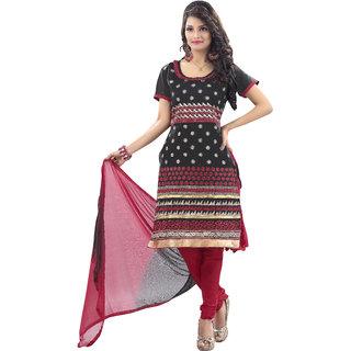 Trendz Apparels Pink Chanderi Cotton Silk Straight Fit Salwar Suit