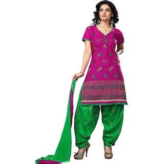 Trendz Apparels Pink Cotton Patiala Salwar Suit