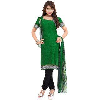 Trendz Apparels Green Crepe Straight Fit Salwar Suit