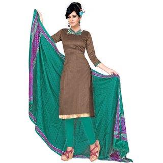Trendz Apparels Beige Silk Straight Fit Salwar Suit