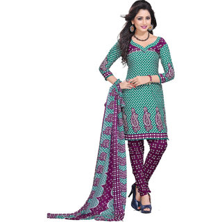 Trendz Apparels Green Crepe Straight Fit Salwar Suit