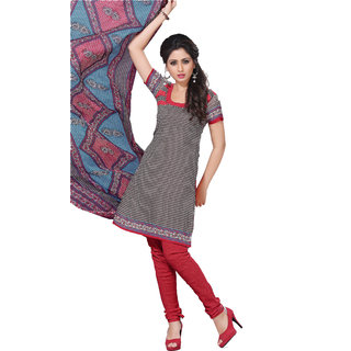 Trendz Apparels Gray Crepe Straight Fit Salwar Suit