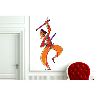 Creatick Studio Garba Man Multicolor Wall Sticker