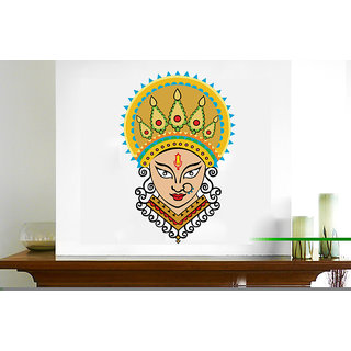Creatick Studio Maa Durga Multicolor Wall Sticker