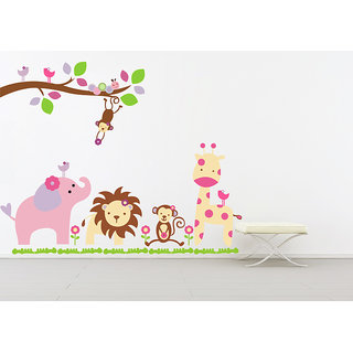 Creatick Studio Friends And Lion King Wall Sticker