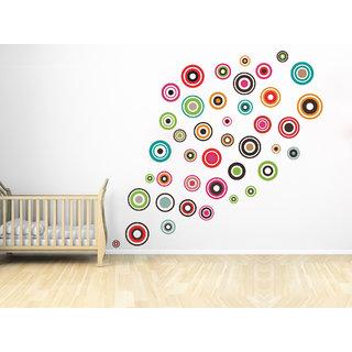 Creatick Studio Coloured Circles Wall Sticker