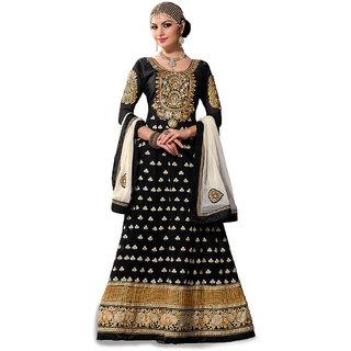 Trendz Apparels Black Pure Georgette Anarkali Suit Salwar Suit