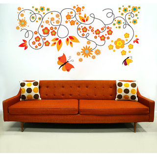 Creatick Studio Butterfly Floral Wall Decal