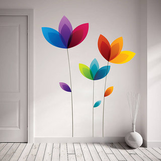 Creatick Studio Colorful Flowers Wall Decal