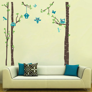 Creatick Studio Owl Tree Home Wall Sticker