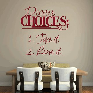 Creatick Studio Dinner Choices Wall Decal