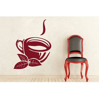 Creatick Studio Tea Cup and Leaves Wall Decal