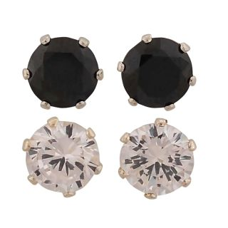 Maayra Unique Black White Stone Crystals Dailywear Office Stud Earrings