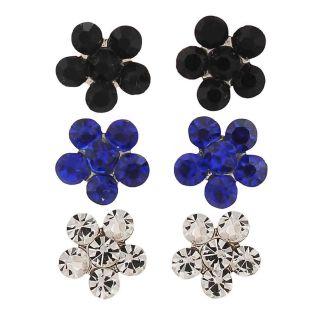 Maayra Pretty Multicolour Stone Crystals Dailywear Office Stud Earrings